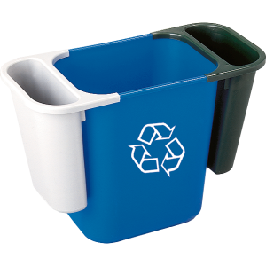 Правоъгълно кошче 27 л. Rectangular Wastebasket с 2 бр. странични кошчета