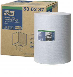 Ролка Tork Premium Multipurpose Cloth 530 Blue Combi (Tork Strong Roll-Box - синя)