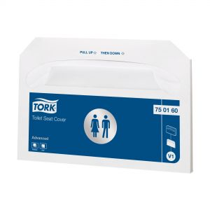 Покривала за тоалетна чиния Tork VIP Seat Paper