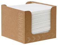 DUNI Картонен диспенсър за салфетки Dunisoft 20х20, с 50 бр. бели салфетки