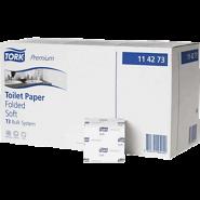 Тоалетна хартия на салфетки Bulk Tork Plus